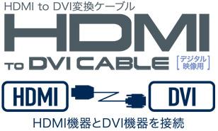 HDMIToDVI変換ケーブル