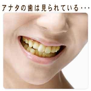 アナタの歯は見られている…