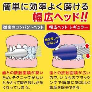 歯ブラシの常識を変える幅広ヘッド!