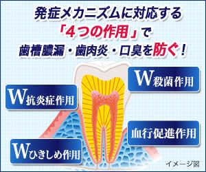 4つのアプローチで、歯槽膿漏・歯肉炎・口臭まで防ぐ