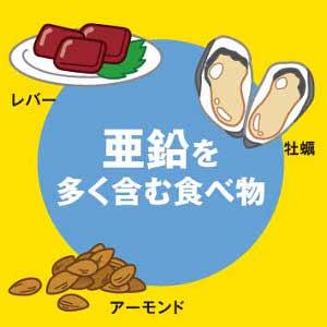 肉類、魚介類、種実類に多く含まれる栄養素