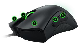 Razer [DeathAdder] chroma mouse マウスボタン