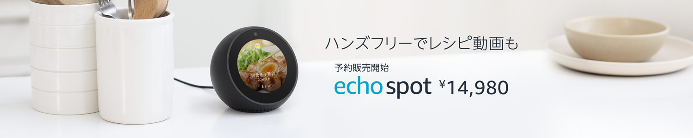 予約販売開始 Echo Spot