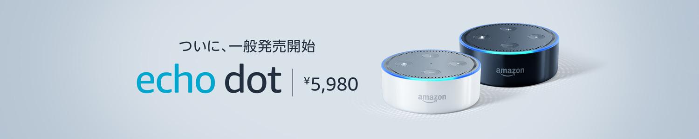 ついに一般発売 Echo Dot
