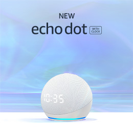 New Echo Dot with clock