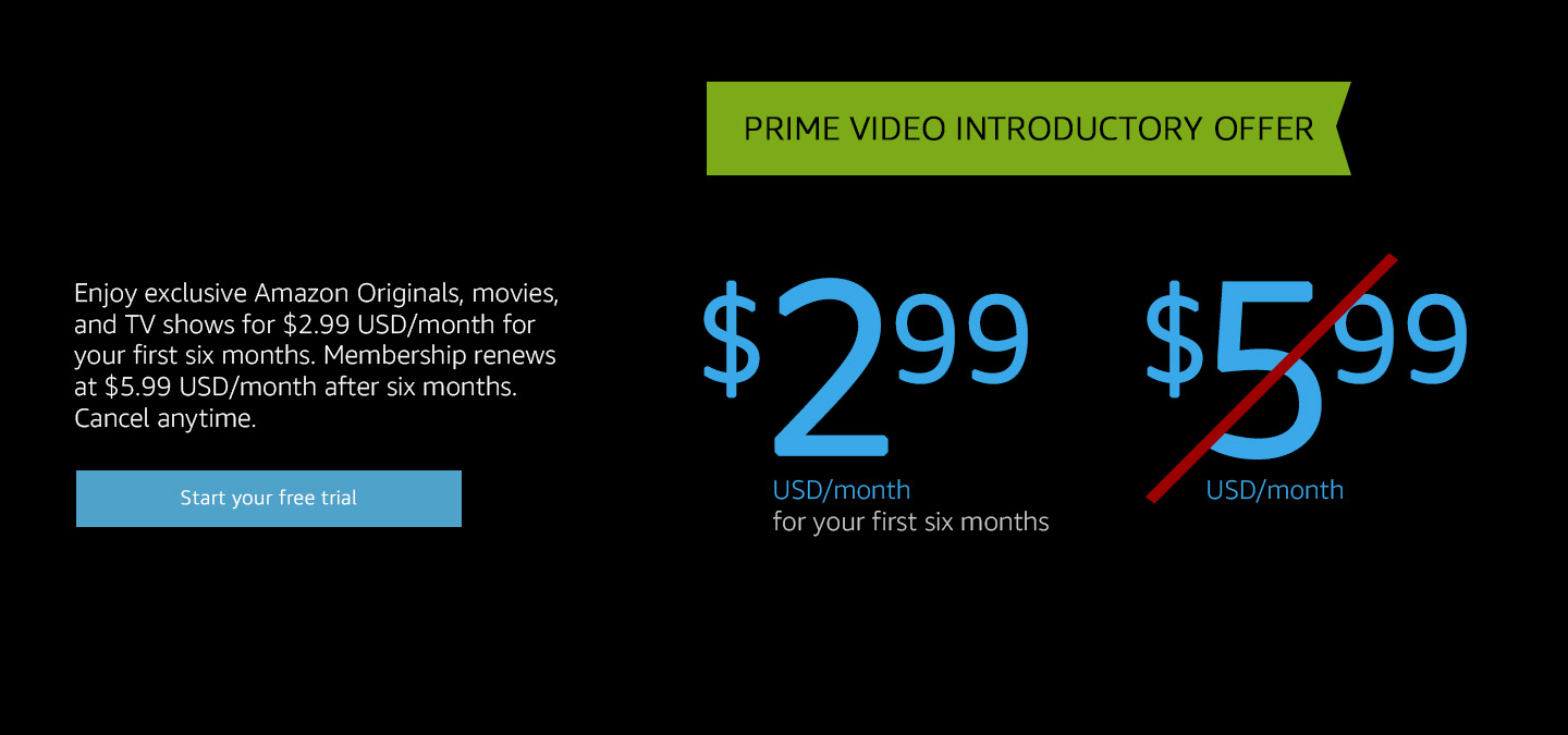 Prime Video introductory offer