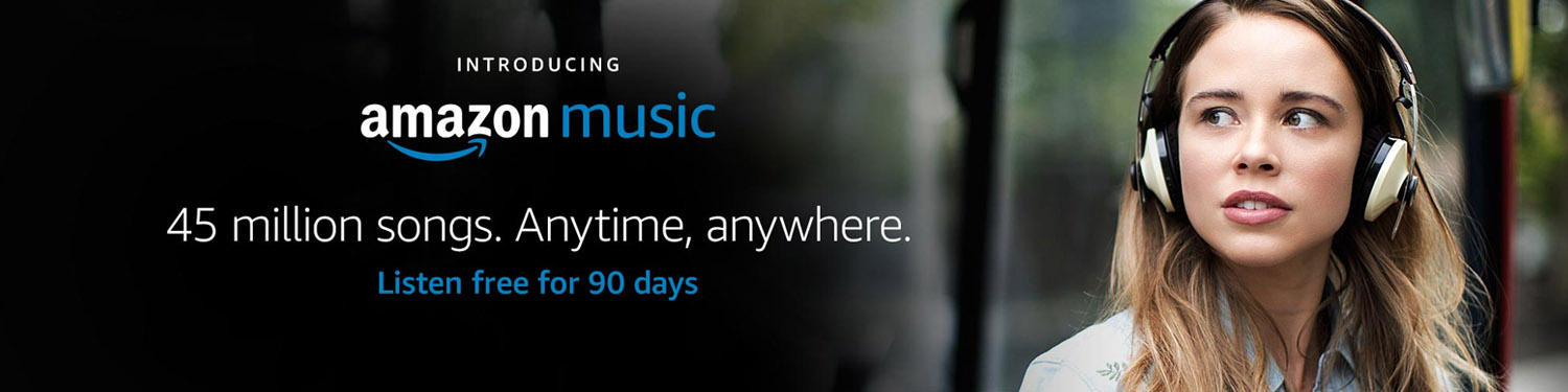 Introducing Amazon Music. 45 million songs. Anytime, anywhere.