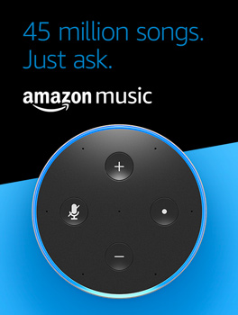 45 million songs, just Ask. Amazon Music.