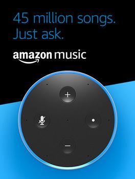 45 million songs, just Ask. Amazon Music.