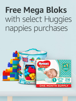 Free Mega Bloks with select Huggies nappies purchases