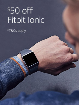 $50 off Fitbit Ionic. Terms and conditions apply.