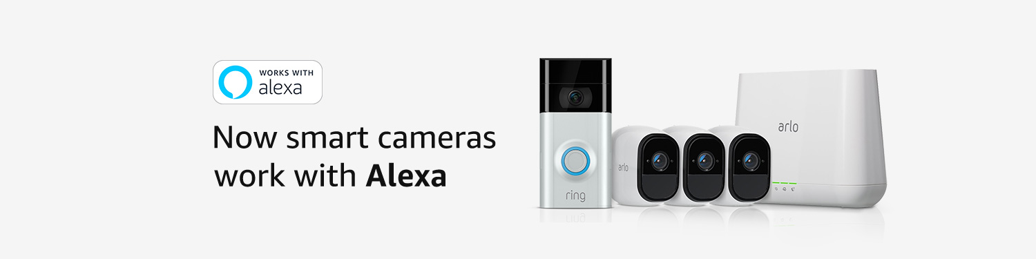 Now smart cameras work with Alexa