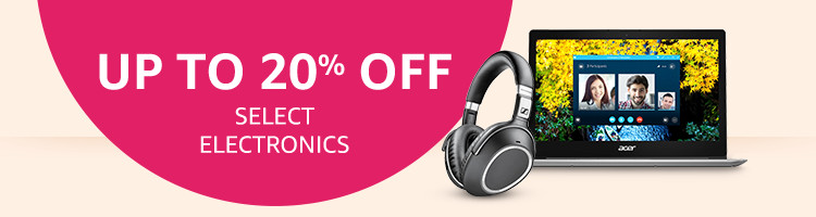 Up To 20% Off Select Electronics