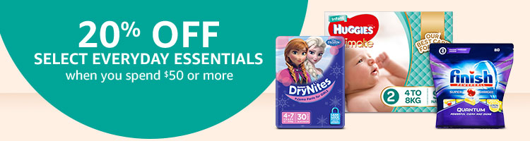 20% off select everyday essentials