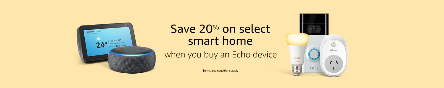 Great smart home deals with Echo