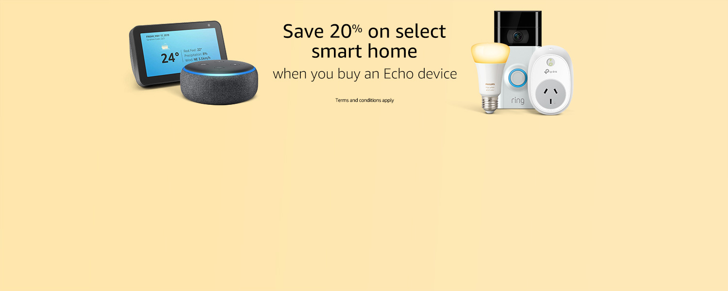 Smart Home 20% off with Echo device purchase