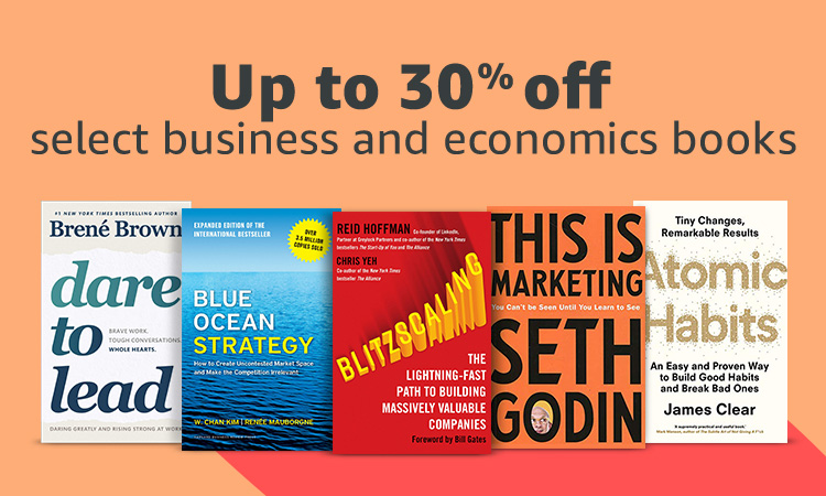 Up to 30% off select business and economics books