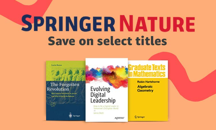 Save on select Springer Nature titles