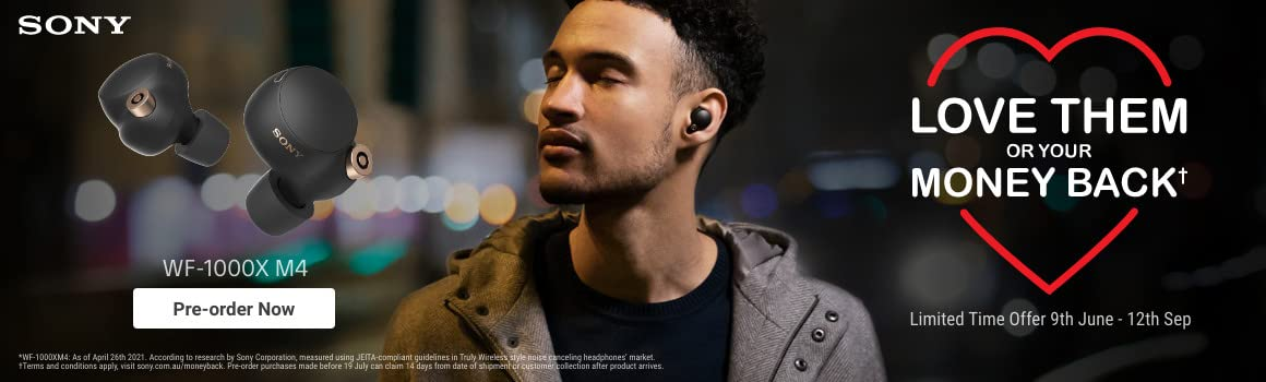 Introducing the new Sony WF1000XM4 Truly Wireless Headphones