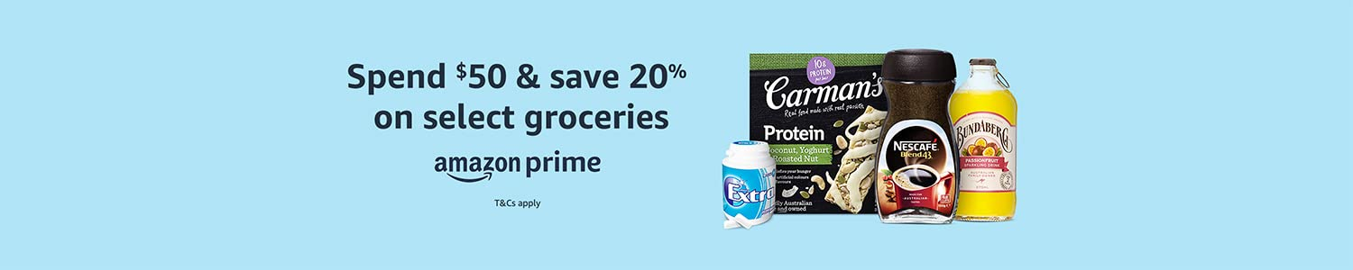 Prime members spend $50, save 20% on select grocery essentials