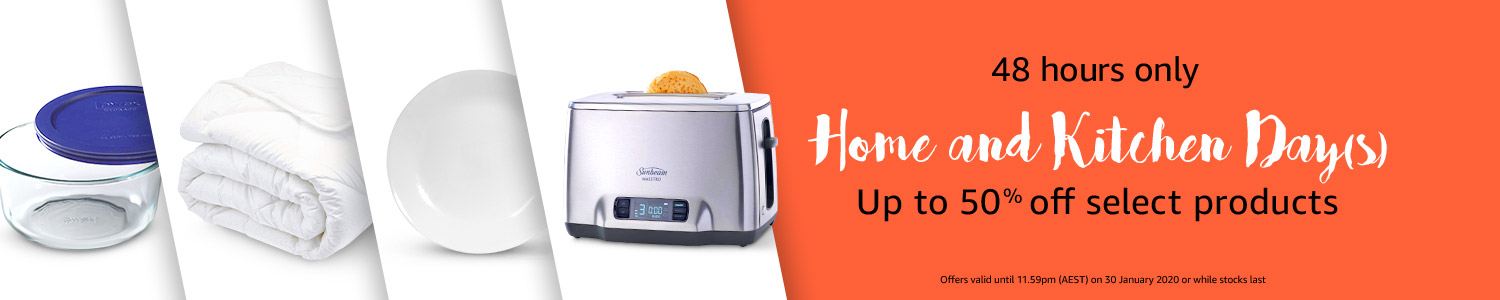 Up to 50% off select home and kitchen products