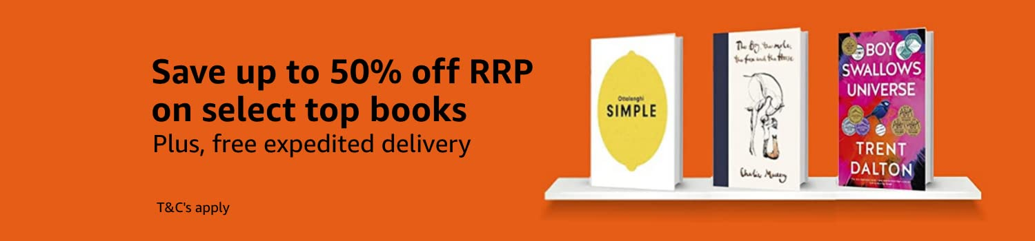 Save up to 50% off RRP on select books