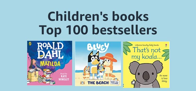 Top 100 children's books bestsellers