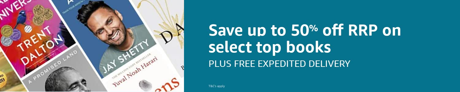 Save up to 50% off RRP on select books plus free expedited delivery. T&C's apply.