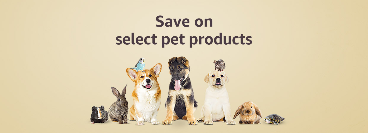 Save on select pet products