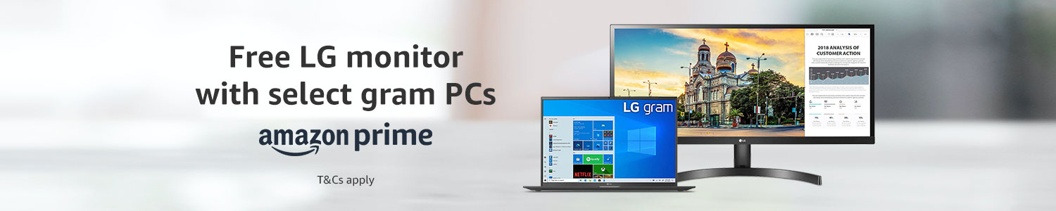 Free LG monitor with select Gram PCs