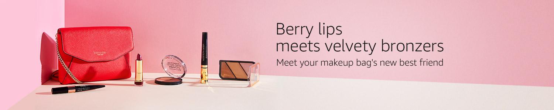 Berry lips meets velvety bronzers