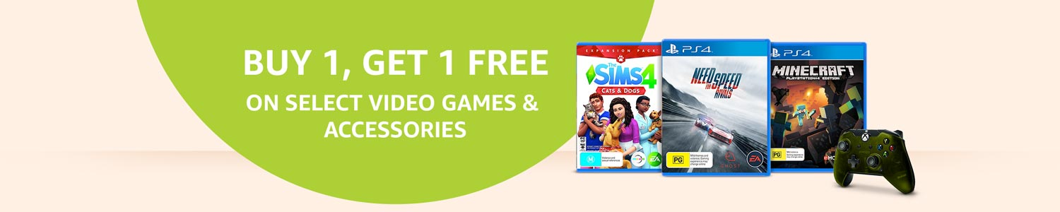 Buy 1, get 1 free on select Video Games & Accessories
