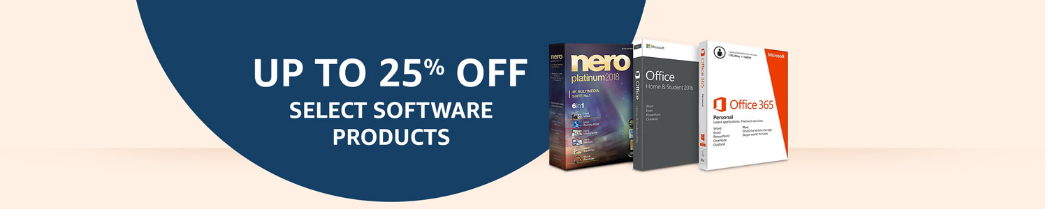 Up to 25% off select Software products