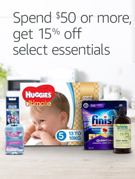 Spend $50, get 15% off select everyday essentials
