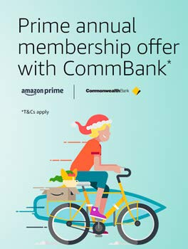 Prime annual membership offer with Commbank