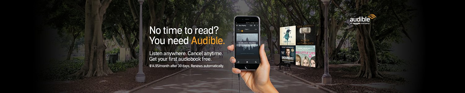 Audible - Download a free audiobook with a 30-day trial