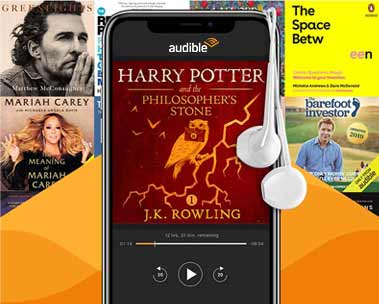 50% off Audible membership for 6 months