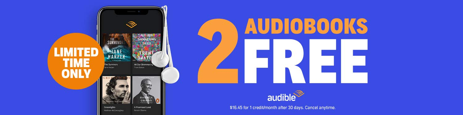 Audible - 2 Free audiobooks