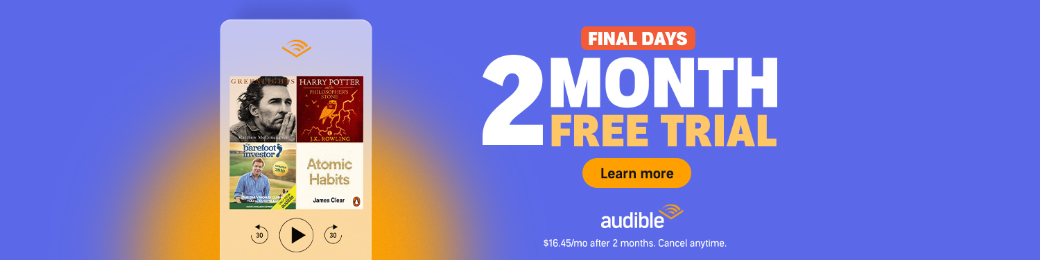 Audible 2 month free trial