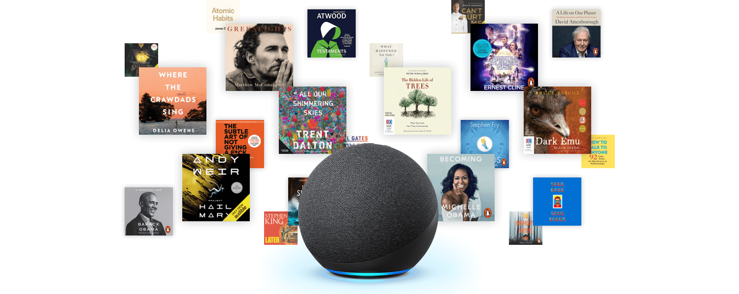 Experience Audible on your Echo