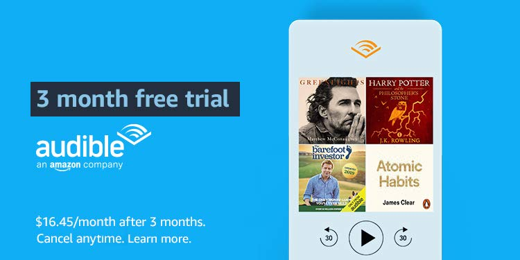 Free 3 month Audible trial