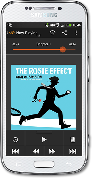 Android Audible App with The Rosie Effect by Graeme Simsion