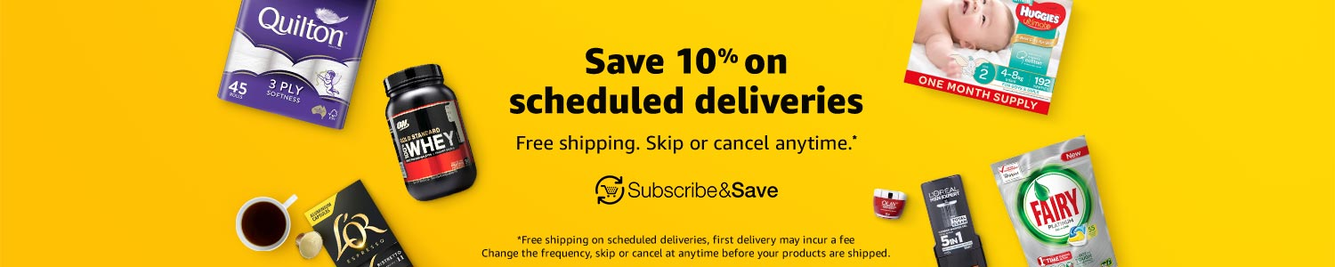 Save 10% on scheduled deliveries