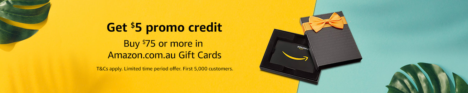 Get $5 promo credit when you buy $75 or more in Gift cards