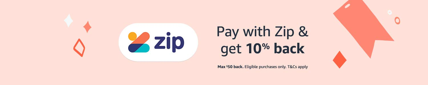 Pay with Zip and get 10% back. Max $50