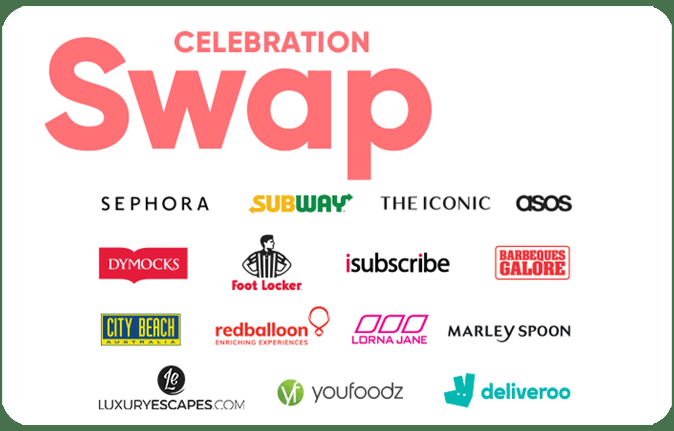 Swap Celebration gift card