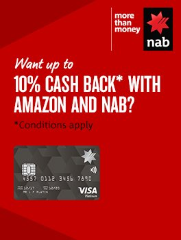 Want up to 10% cashback with Amazon and NAB?