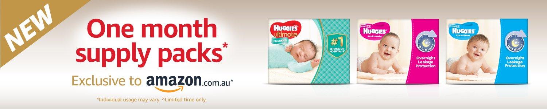 Huggies one month supply packs