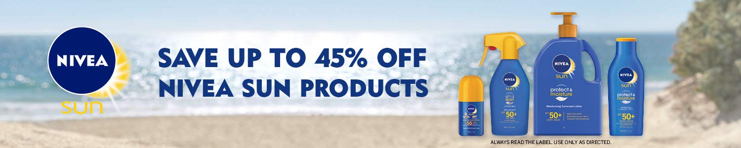 Save up to 45% off Nivea sun products