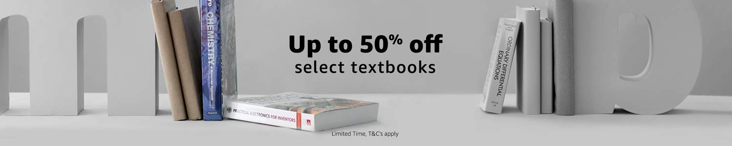Save up to 50% off select Textbooks